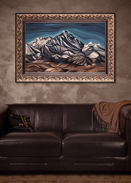 Василий Сидорин | Эверест | art.vin | в интерьере