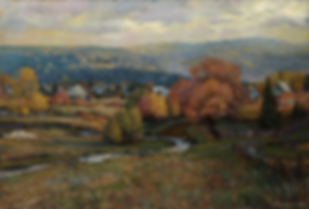 Осень Малояз | картина с пейзажем | Алексей Петриков | Alex Petrikov | Landscape | пейзаж | природа | art.vin | Artmagic | Артмагия