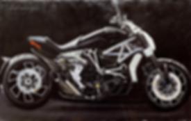 Мотоцикл | Михаил Балавадзе | Mihail Balavadze | грузинский худодник | купить картину в Москве | Артмагия | Artmagic | art.vin