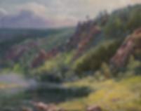 Июньское утро | картина с пейзажем | Алексей Петриков | Alex Petrikov | Landscape | пейзаж | природа | art.vin | Artmagic | Артмагия