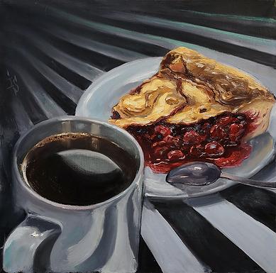 Кофе и вишнёвый пирог | Ирина Сергеева | Абстракция | art.vin | Artmagic | Артмагия