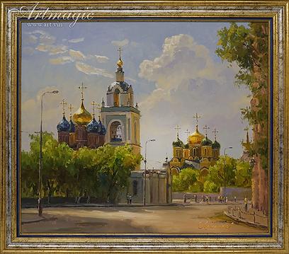 Варварка   Викентий Лукиянов   Городской пейзаж   art.vin   Artmagic   Артмагия