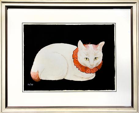 Белая кошка | Takahashi Shotei Hiroaki | Cat | Котики | art.vin | Artmagic | Артмагия