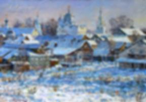 Зима в Суздале | Антон Колоколов | пейзаж | работы художника | кпить картину в Москве | Artmagic | Артмгия | artvin