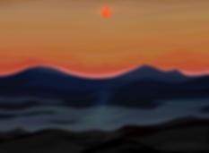 Закат | Sunset | volnism | купить картину в Москве | art.vin | в интерьере