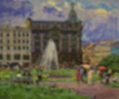 петербургский дождичек | фонтан питера | Дмитрий Сысоев | Dmitry Sysoev | Landscape | пейзаж | art.vin | Artmagic | Артмагия