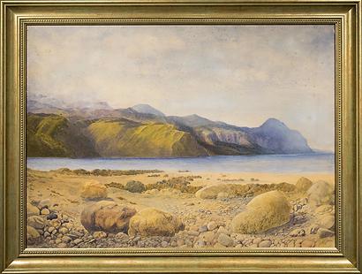 Каменный пляж | Beautiful rocky beach and coastline | XIX век - XX | seascape | marine landscape | Морской пейзаж | art.vin | Artmagic | Артмагия