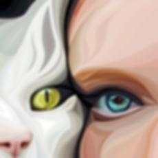 Родственные души | Василий Сидорин | Cat | Котики | art.vin | Artmagic | Артмагия