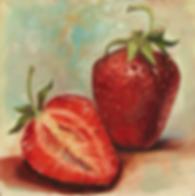 Полторы | клубничка | Ирина Сергеева | Irina Sergeeva | Still life | Натюрморт | art.vin | Artmagic | Артмагия