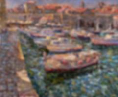 Причал в Дубровнике | Антон Колоколов | пейзаж | работы художника | кпить картину в Москве | Artmagic | Артмгия | artvin