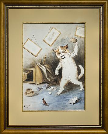 Кот дебошир | Louis Wain | Cat | Котики | art.vin | Artmagic | Артмагия