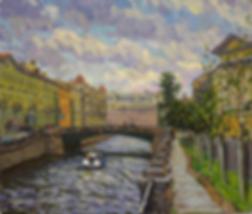 ОБЛАКА НАД ГОРОДОМ | набережная | Дмитрий Сысоев | Dmitry Sysoev | Landscape | пейзаж | art.vin | Artmagic | Артмагия