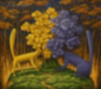 Влюблённый букет | котики  | Юрий Сизоненко | Yuriy Sizonenko | необычные картины | современное искусство | купить картину в Москве | Артмагия | Artmagic | artvin