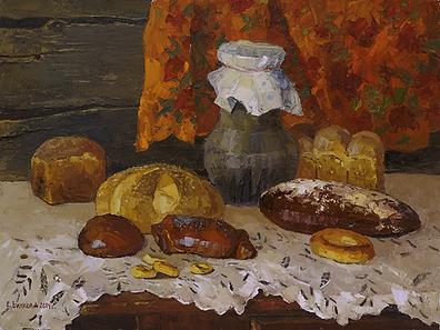 хлеб   Елена Вилков   Натюрморт   купить картину в москве   Артмагия   Artmagic   artvin