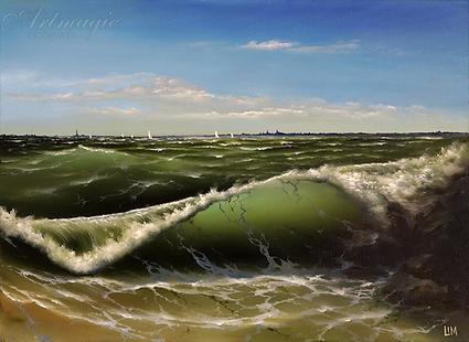 морской вид | Сергей Лим | художник-маринист | купить морской пейзаж | купить картину маслом | купить картину с морем | Артмагия | Artmagic | artvin