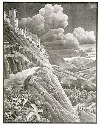 Кастолвальва   M.C. Escher   Городской пейзаж   art.vin   Artmagic   Артмагия