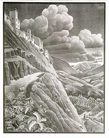 Кастровальва | Castrovalva | Мауриц Эшер | M.C. Esher | Landscape | пейзаж | art.vin | Artmagic | Артмагия