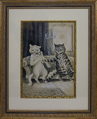 Ухаживания | Advance | Louis Wain | Cat | Котики | art.vin | Artmagic | Артмагия