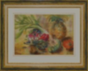 Натюрморт с ананасом | еда | Элен ДеЛаКруа | Helen De La Croix | Still life | Натюрморт | art.vin | Artmagic | Артмагия