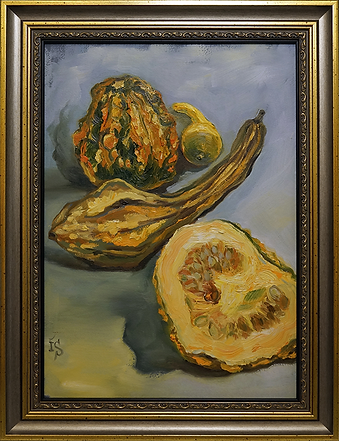 Тыквы | овощи | Ирина Сергеева | Irina Sergeeva | Still life | Натюрморт | art.vin | Artmagic | Артмагия
