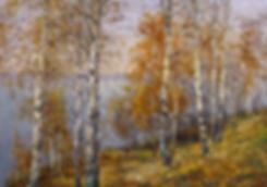 На волжских берегах  | Антон Колоколов | пейзаж | работы художника | кпить картину в Москве | Artmagic | Артмгия | artvin