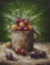 Кружка с черешней  | Юрий Сизоненко | Yuriy Sizonenko | необычные картины | современное искусство | купить картину в Москве | Артмагия | Artmagic | artvin