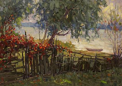 Тёплое солнышко | Андрей Вилков | пейзаж | деревенский пейзаж | купить картину в москве | Артмагия | Artmagic | artvin