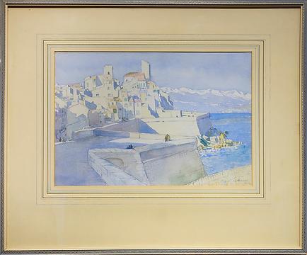 Французское побережье школы Сент-Айвз | French coast St Ives school | 1929 | Mery McCrossan | Мэри Маккроссан | seascape | marine landscape | Морской пейзаж | art.vin | Artmagic | Артмагия