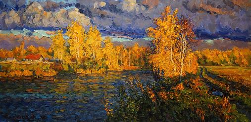 Осенний пожар | осень | Дмитрий Сысоев | Dmitry Sysoev | Landscape | пейзаж | art.vin | Artmagic | Артмагия