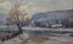 Зимний вечер | картина с пейзажем | Алексей Петриков | Alex Petrikov | Landscape | пейзаж | природа | art.vin | Artmagic | Артмагия