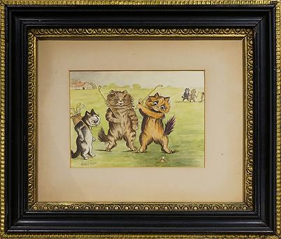 Гольф | Louis Wain | Cat | Котики | art.vin | Artmagic | Артмагия