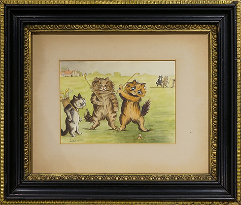 Гольф | Louis Wain | Cat | Котики | art.vin | Artmagic | Артмагия