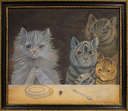 За то, что | Louis Wain | Cat | Котики | art.vin | Artmagic | Артмагия