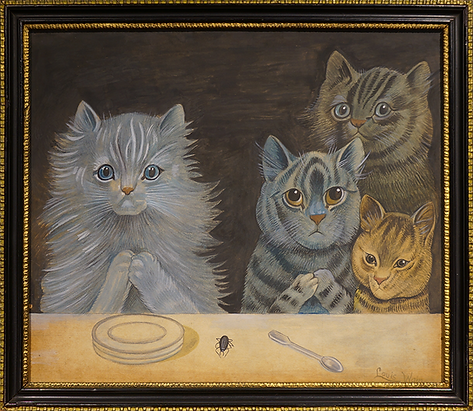 За то, что | Louis Wain | Cat | Котики | art.vin | Artmagic | Артмагия