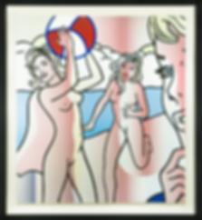 Волейбол | Volleyball | Рой Лихтенштейн | Roy Lichtenstein | Cuite | Милашки | art.vin | Artmagic | Артмагия