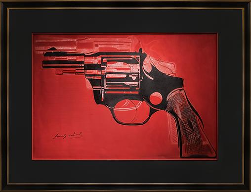 Gun | Andy Warhol | револьвер | Энди Уорхол | Артмагия | пейзаж | купить картину в москве | купить картину | art | art gallery | artvin | Artmagic | exclusive | эксклюзив