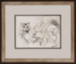 У зеркала | Louis Wain | Cat | Котики | art.vin | Artmagic | Артмагия
