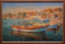 Причал в Несебре | Антон Колоколов | пейзаж | работы художника | кпить картину в Москве | Artmagic | Артмгия | artvin