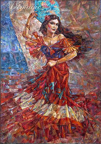 Танцовщица  | Антон Колоколов | пейзаж | работы художника | кпить картину в Москве | Artmagic | Артмгия | artvin