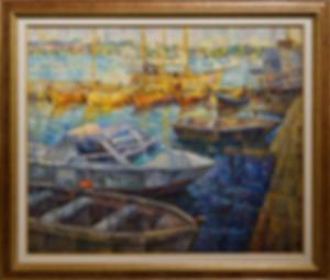 Солнечная пристань | Антон Колоколов | пейзаж | работы художника | кпить картину в Москве | Artmagic | Артмгия | artvin