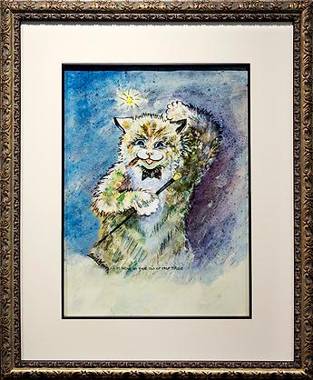 I am now at the top of the tale! | Louis Wain | Cat | Котики | art.vin | Artmagic | Артмагия