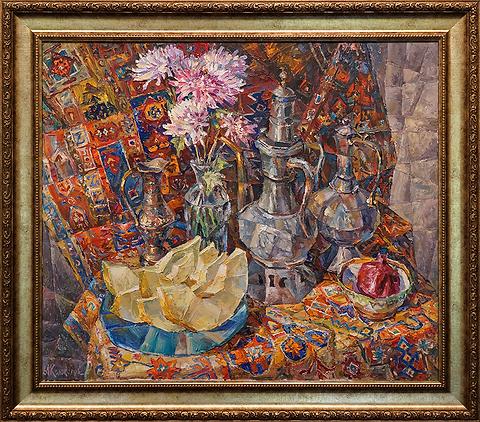Восточный натюрморт | Антон Колоколов | пейзаж | работы художника | кпить картину в Москве | Artmagic | Артмгия | artvin