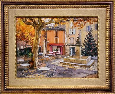 Парижский дворик | Владимир Чёрный | Городской пейзаж | art.vin | Artmagic | Артмагия