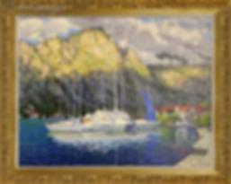 Синий парус | Blue sail | Дмитрий Сысоев | Dmitry Sysoev | Landscape | пейзаж | art.vin | Artmagic | Артмагия