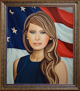 Трамп | Мелания | Melania | Василий Сидорин | Vasily Sidorin | Portrait | портрет | art.vin | Artmagic | Артмагия