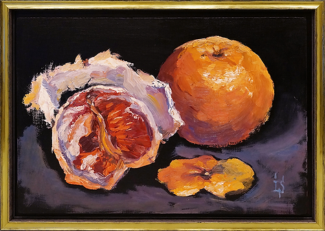Грейпфрут | картина в раме | Ирина Сергеева | Irina Sergeeva | Still life | Натюрморт | art.vin | Artmagic | Артмагия