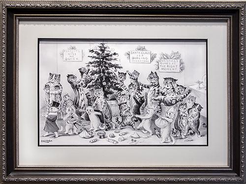 Christmas | Louis Wain | Cat | Котики | art.vin | Artmagic | Артмагия