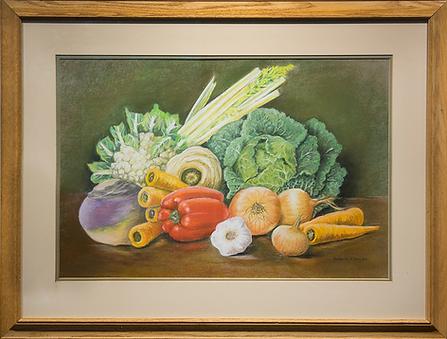 натюрморт с овощами | капуста | Сьюзан Бейли | Suzanne Bailey | Still life | Натюрморт | art.vin | Artmagic | Артмагия