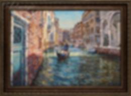 проулка по каналам венеции  | Антон Колоколов | пейзаж | работы художника | кпить картину в Москве | Artmagic | Артмгия | artvin