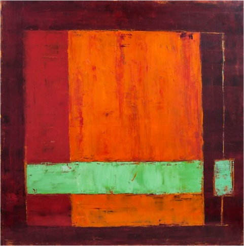 Красный оранжевый зелёный | Red orange green | Лана Цагарейшвили | Lana Tsagareishvili | Абстракция | art.vin | Artmagic | Артмагия